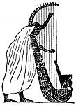 Grekisk harpa webbkryss