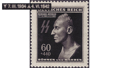 Reinhard Heydrich on a stamp