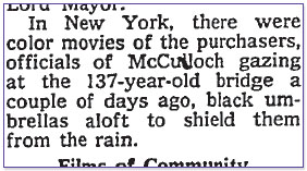 New York Times 1968-04-19: McCulloch officials gazing at the bridge