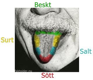 smaker på tungan